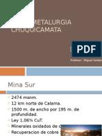 Hidrometalurgia Chuquicamata Jóse Barrientos