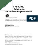 Letra Del Año 2012 Consejo Cubano de Sacerdotes Mayores de Ifá