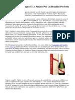 Spumante, Champagne E Le Regole Per Un Brindisi Perfetto