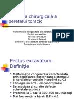 Patologia Chirurgicală a Peretelui Toracic
