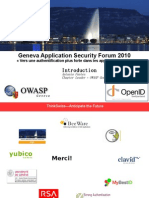 Geneva Application Security Forum 2010 Vers une authentification plus forte dans les applications web""