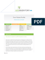 rory cohoon your-values-profile my lifevaluesinventory org
