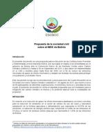 Propuesta de la sociedad civil sobre el INDC de Bolivia (Contribuciones Previstas y Determinadas a Nivel Nacional) Cambio Climatico