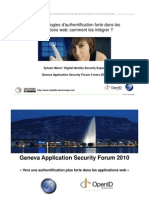 Geneva Application Security Forum 2010