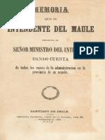 Memoria Del Maule 1864