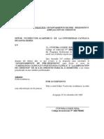 SOLICITO AMPLIACION DE CRÉDITOS Y LEVANTAMIENTO DE PRE-REQUISITO.doc