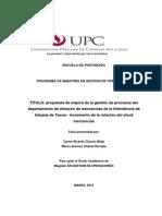 Programa de Maestria en Gestion de Operaciones