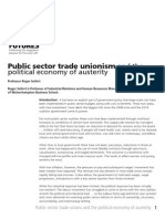 Public Sector Unions and the political economy of austerity