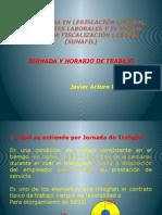 JORNADA Y HORARIO DE TRABAJO (DIPLOMADO 2015).pptx