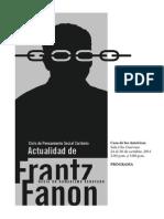 Programa Coloquio Frantz Fanon
