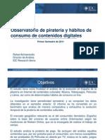 Observatorio de piratería y hábitos de consumo de contenidos digitales