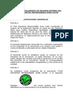 Reglamento de Regimen Interno Club Deportivo Zona Colin