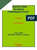 INSPECCION TECNICO CRIMINALISTICA