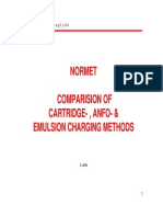 Comparison of Cartridge-Anfo-Emulsion Charging Methods