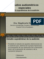 Estudios Audiométricos Especiales
