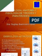 Embriología de Tiroides