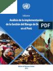 Informe Nnuu Analisis Implementacion de La Grd en El Peru
