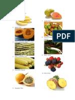 Frutas y Verduras en Qéqchi