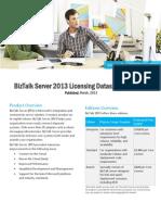2013 Licensing Datasheet and FAQ