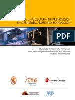Memoriaeducacion Prevención de Desastres