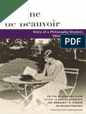 Simone de Beauvoir, Diary of a Philosophy Student v 1, 1926