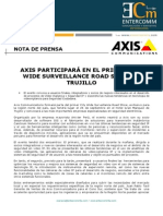 NP Axis Communications - Axis participará en el primer City Wide Surveillance Road Show en Trujillo