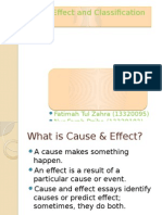 Cause Effect and Classification Essay