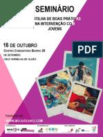 """Cartaz Seminário """"Partilha de Boas Práticas na Intervenção Com Jovens"""""""