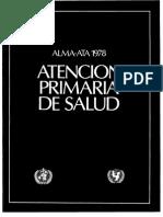 Declaracion de Alma Ata AP Promocion Salud