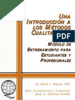 introduccion Métodos cualitativos