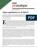 ¿Que Capitalismo Es El Chino? - Le Monde Diplomatique