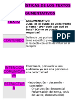 Características de Los Textos Argumentativos(Papelografo)