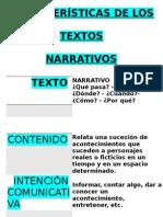 Características de Los Textos Narrativos (Papelografo