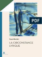 La Circonstance Lyrique - Claude Millet (Dir)