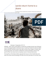 Tens of Thousands Return Home to a Destroyed Kobane
