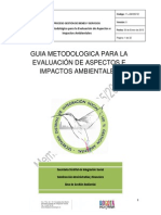 Guia Metodologica Para La Evaluacion de Aspectos e Impactos Ambientales