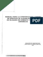 Manual Albañilería MOP 1983