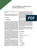 Enfermedades Metabólicas Producidas Por Enzimas Defectuosas