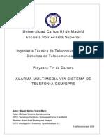 Alarma Multimedia via Sistema de Telefonia Gsm Gprs