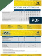 Civil Construction Courses Jun-Dec-2015