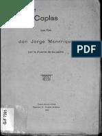 Coplas Jorge Manrrique