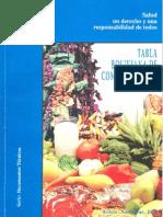 Tabla Alimentacion Bolivia
