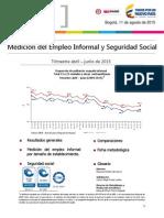 Estadisticas Sobre La Informalidad Abril - Junio 2015