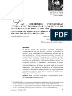 Las Corrientes Pedagógicas - Educacion Fisica
