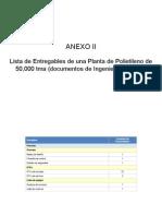 Lista Entregables Plta Polietileno -Ag15