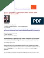 10-03-11 Richard Fine Complaint Filed With H Marshall Jarrett, Director, US Attorneys Office, US DOJ