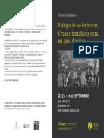 Programa Seminario Diálogos de las Memorias