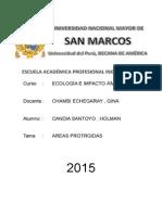 Areas Protegidas Cusco