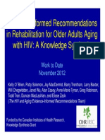 Recommendations in Rehab With Olderss