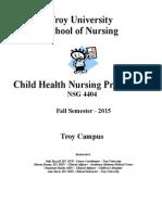 NSG 4404 Child Health Nursing PracticumFall2015 (2) (1)
